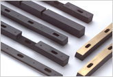 Custom Injection Molded Abrasion Resistant Rubber Strips Bonded to Bras
